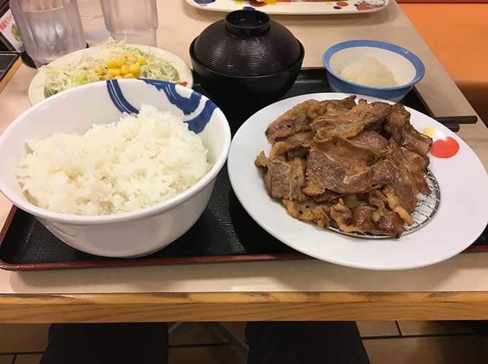 松屋のカルビ定食特盛