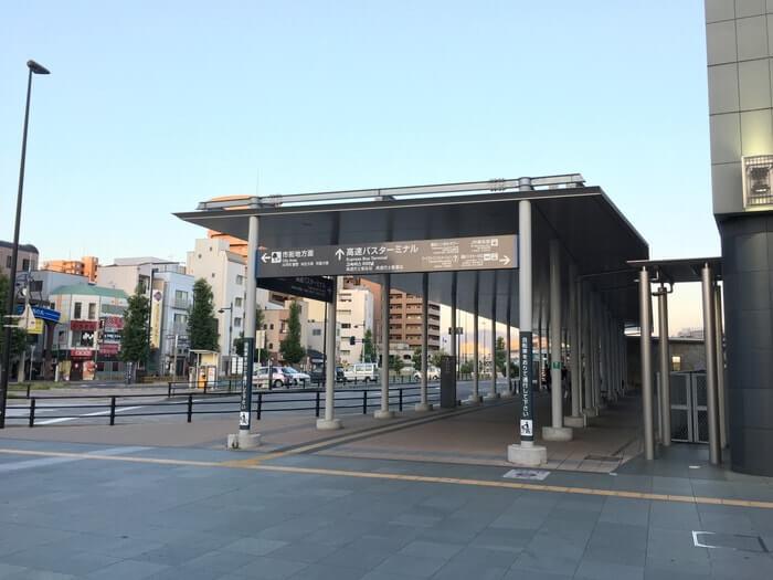 高松の高速バスターミナル