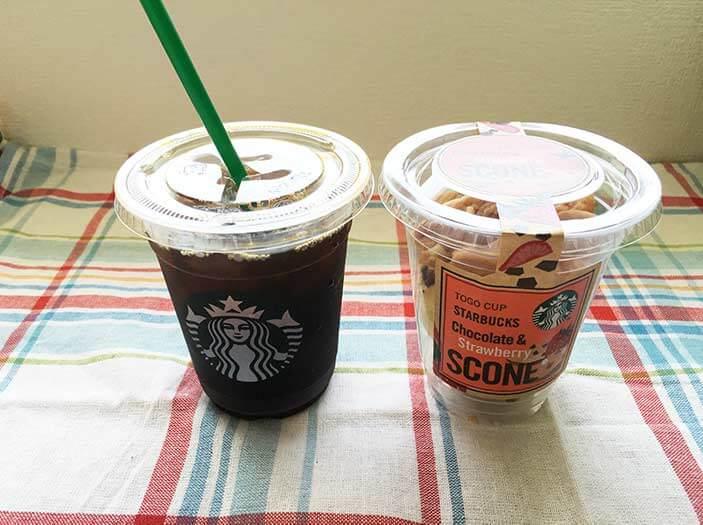 スタバのコーヒーとスコーン